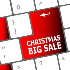 christmas big sale on computer keyboard key button