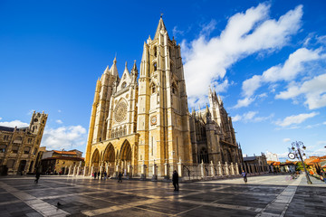 Gothic Cathedral of Leon, Castilla Leon, Spain
