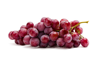 Close up of bunch of grape, isolated on white