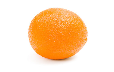 Close up of an orange, isolated