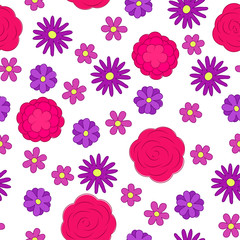 Flowers ornament pattern