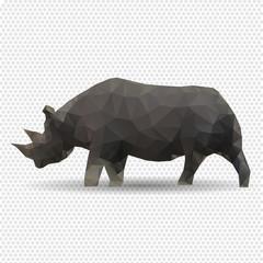 Rhino isolated on a white background.