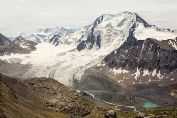 Wall Mural - Glacier at Ala-Kul lake. Kyrgyzstan