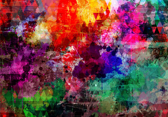 Grunge style abstract watercolor background