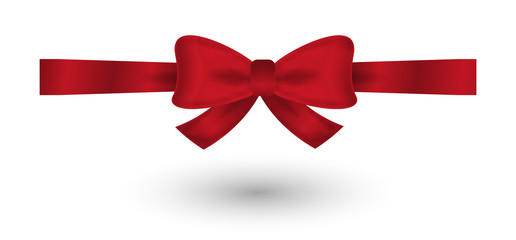 red elegant bow