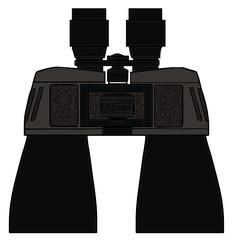 binoculars. vector drawing