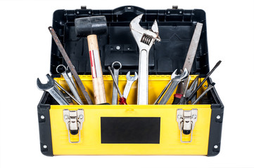 Garage tool box workisolated