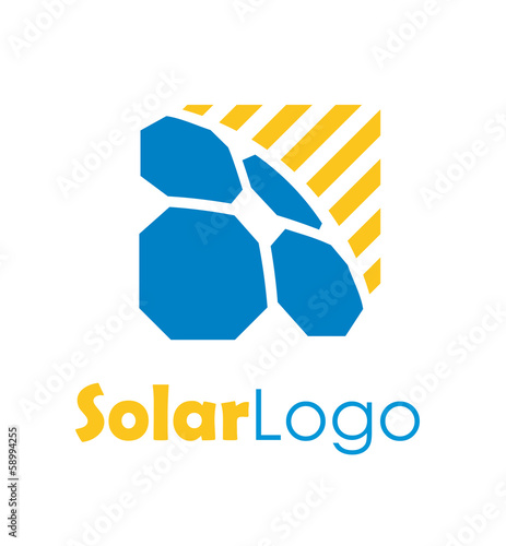 quotsolar energy logoquot stock image and royaltyfree vector