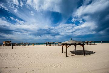 View of Tel-Aviv beach, Israel.