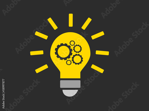 Illustration ampoule engrenage trouver une id e for Trouver une idee innovante