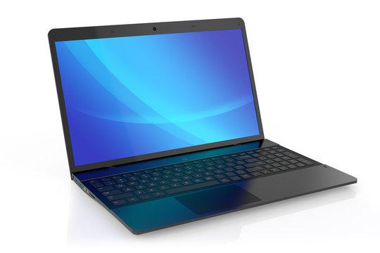 Modern black laptop.
