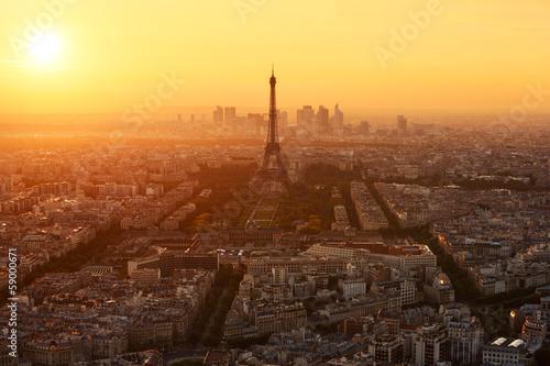 Wall mural Paris Tour Eiffel