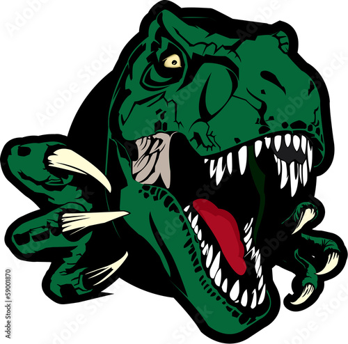 Dino logo maker set. Dinosaur logotype creator. Vector t-rex.