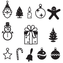 Christmas icon set, vector format