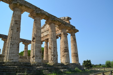 Greek temple of  Paestum Italy