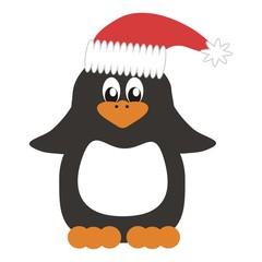 nice penguin in Christmas cap