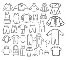 Set of Children clothing.
