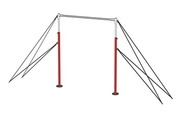cartoon image of gym equipment