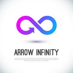 Arrow infinity business vector logo