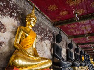 Golden Buddha statue in Wat Suthat Thepwararam, Bangkok