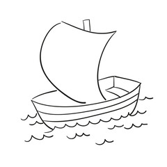 Vector sketch of the boat