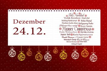 wichtiger Termin im Kalender Weihnachten
