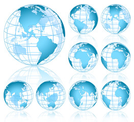Fototapeta Vector Globes obraz