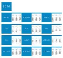 Calendar for year 2014