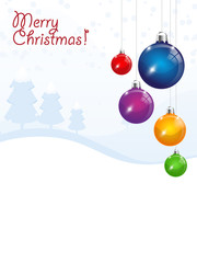 Merry Christmas - vector background