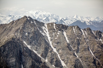 View of high Tien Shan mountains range
