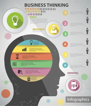 Business, Brain thinking Information graphic design,vector