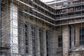 Restoration of antique columns.