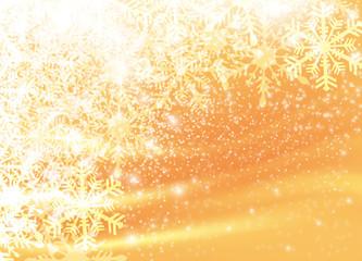 雪 背景 キラキラ クリスマス 金