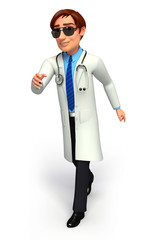 Doctor is walking