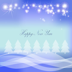Christmas vector background with Christmas trees