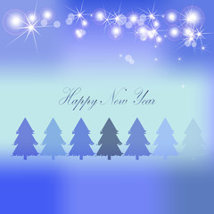 Christmas vector background forest