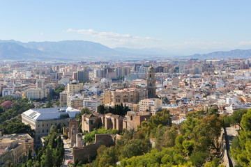 View on Malaga, Andalusia, Spain