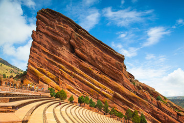 Famous Red Rocks Amphitheater in  Denver