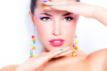 Autocollant pour porte Beauty beauty in color