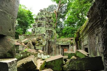 Ancient Ruin of Ta Prohm Temple in Angkor Thom, Cambodia