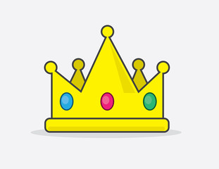 Cartoon crown with embedded jewels