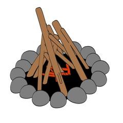 cartoon image of campfire