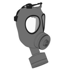 cartoon image of gas mask