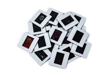 Pile of slides films