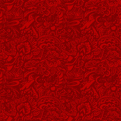 Seamless grunge red texture vector background