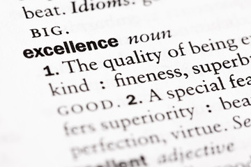 "Dictionary definition of ""Excellence"""