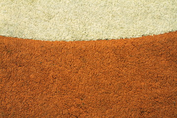 messy and dirty old carpet