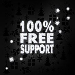 noble 100 percent free support symbol with stars