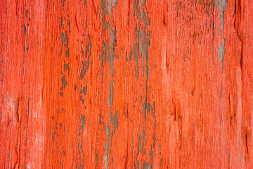 Close view of orange peeling paint on wood