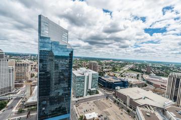 Downtown Minneapolis and surrounding urban